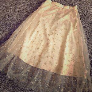🌸Eva Franco🌸 Blush Tulle Starry Skirt